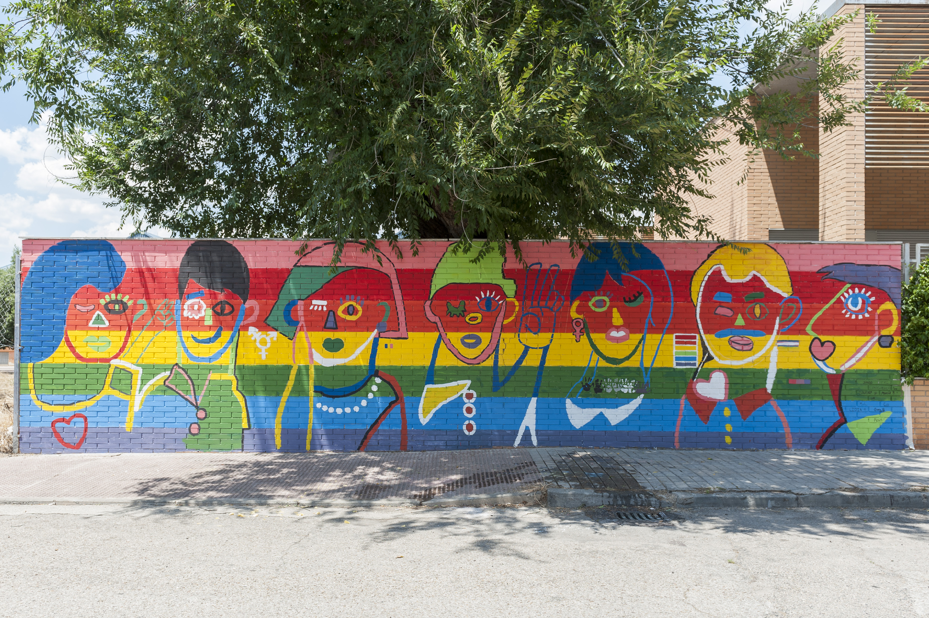 Mural participativo LGTBI