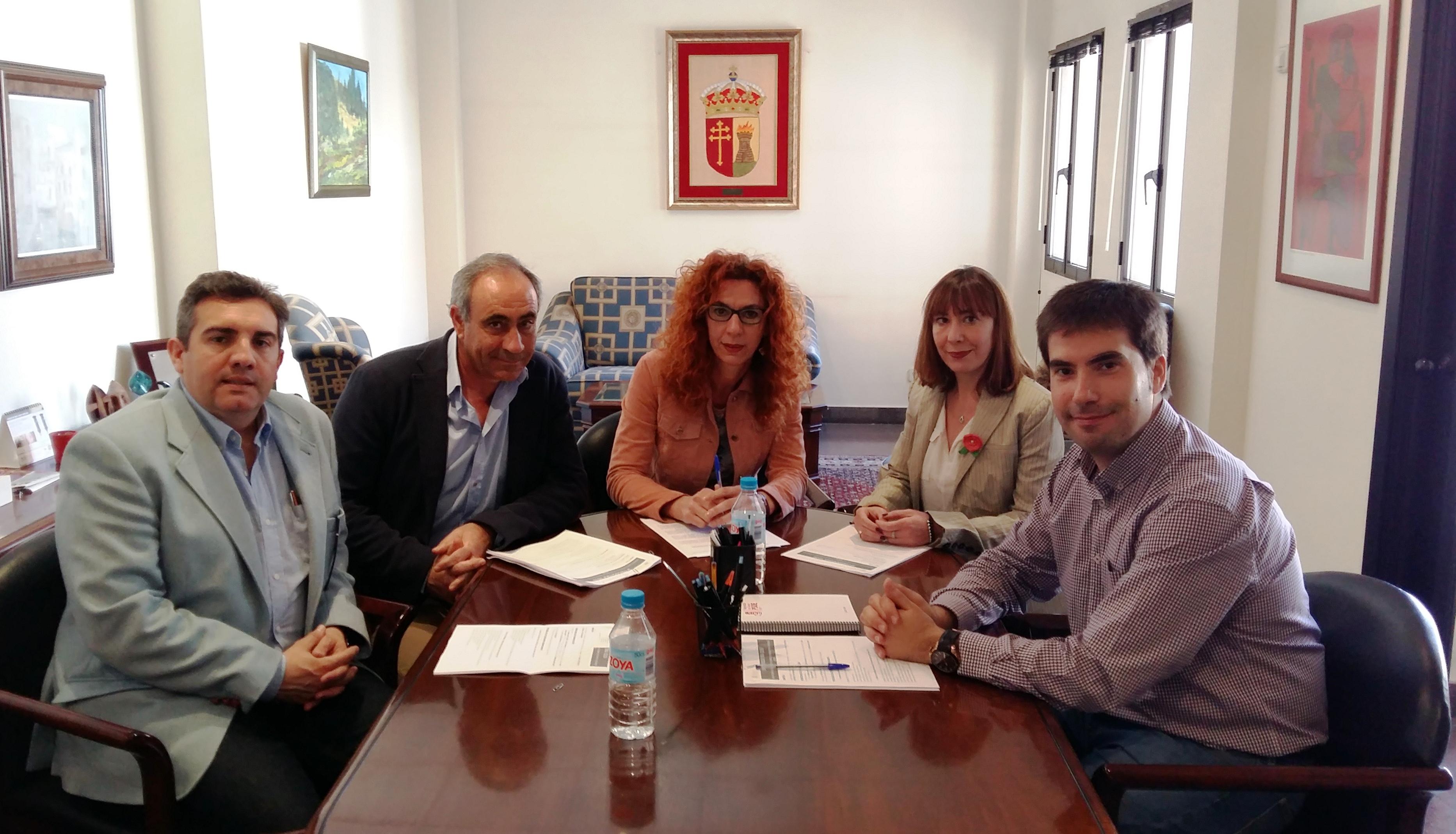 La Alcaldesa de Velilla y los Alcaldes de Mejorada, Loeches y Torres de la Alameda se reunen para trabajar en proyectos europeos