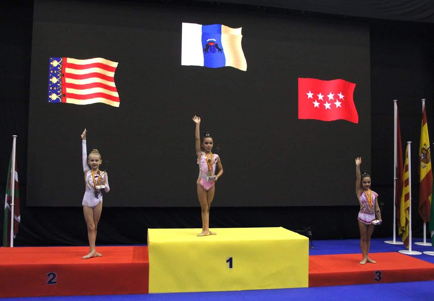 Lidia Cabezas del Club Gimnasia Rítmica Velilla logra medalla de bronce en el Campeonato de España Copa Base