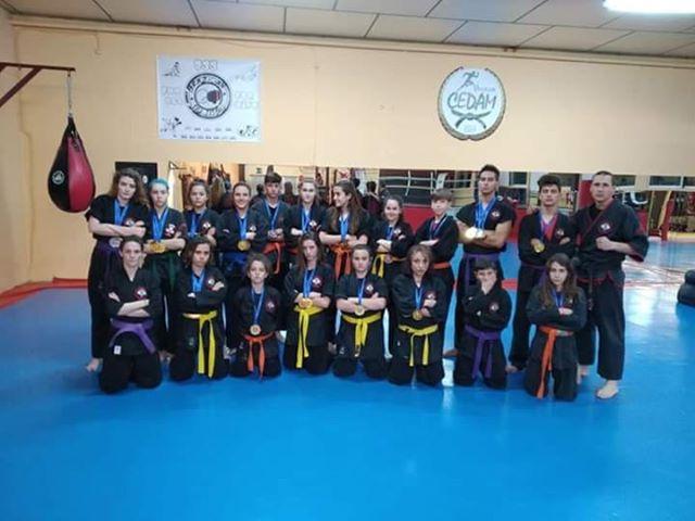 La escuela Tótem de Kajukenbo de Velilla participó en el Torneo Internacional de Artes Marciales AKCM