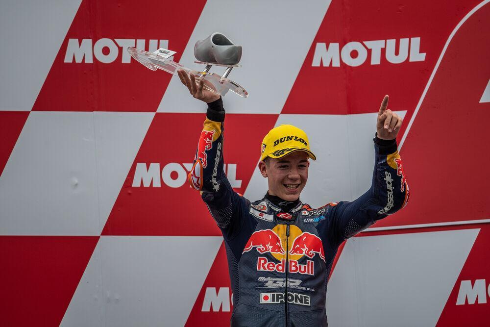 David Salvador ha logrado su primer podio en la Red Bull MotoGP Rookies Cup Championship