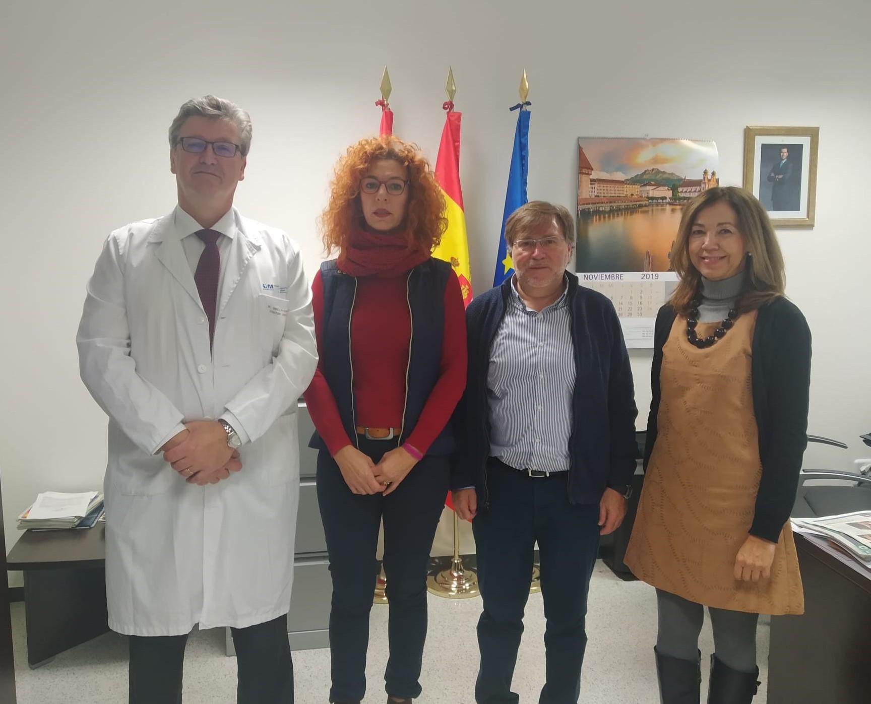 Reunión de la Alcaldesa con el Gerente del Hospital del Henares