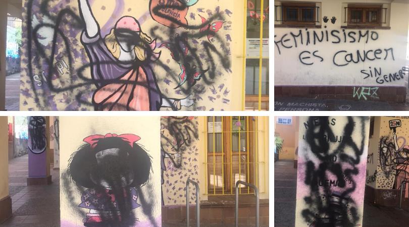 El Ayuntamiento condena las pintadas de odio en la fachada de la Casa de la Juventud y ha denunciado estos hechos ante la Guardia Civil