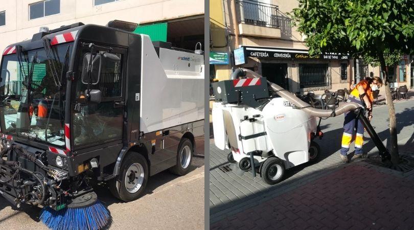 Comienza a incorporarse la nueva maquinaria para hacer más sostenible y efectivo el servicio de limpieza y recogida de basuras