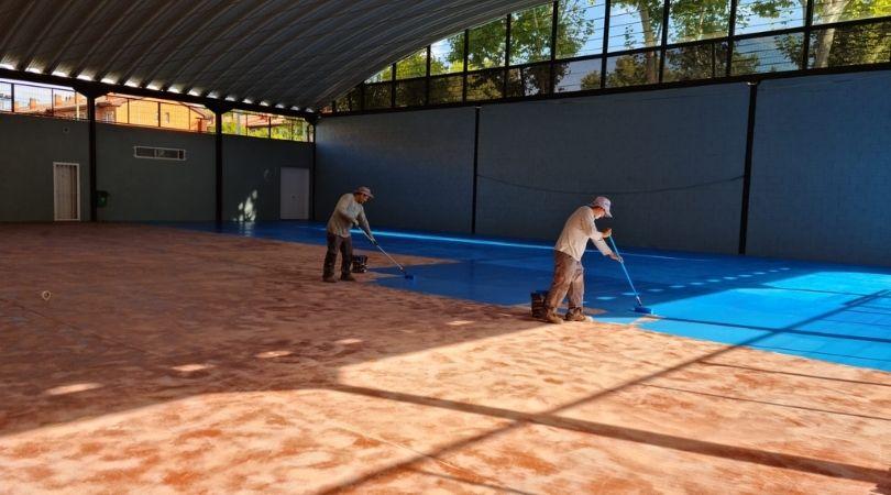Mejora del pavimento de la pista polivalente