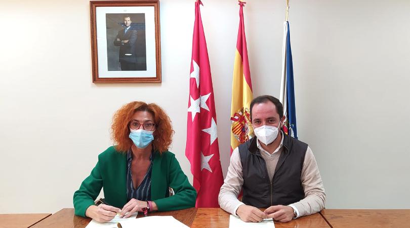 Firma de convenio entre el Ayuntamiento y el IMIDRA para la implantación de la nueva zona verde en el sector XXIII