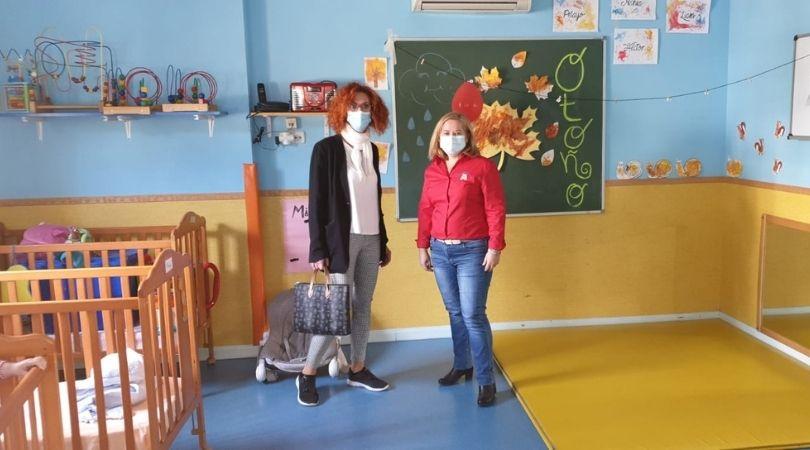 La alcaldesa visitó las Escuelas Infantiles Velilla