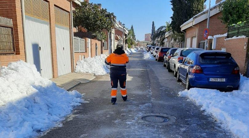 Balance de actuaciones frente a la tormenta de nieve Filomena