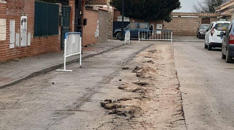 El Ayuntamiento comienza los trabajos de reparación del asfalto que se encuentra en peor estado tras el paso de Filomena