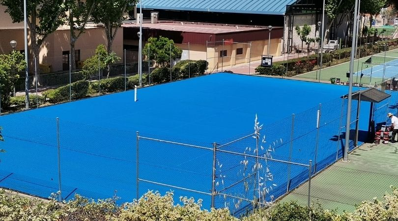 Comienza la remodelación de las pistas de tenis