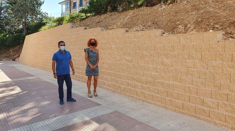 Finalizan las obras del muro de las instalaciones deportivas municipales