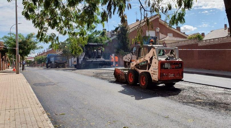 Las obras de asfaltado avanzan a buen ritmo