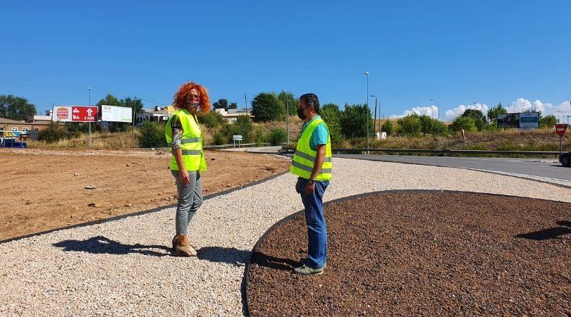 Avanzan las obras de la glorieta de acceso a Velilla desde la M-208