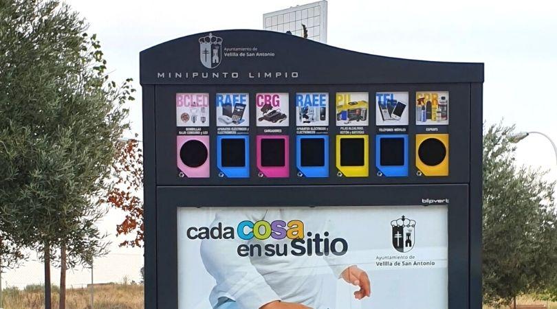 Instalación de minipuntos limpios para facilitar el reciclaje doméstico