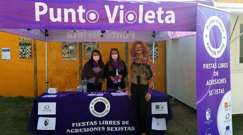 """Velilla instaló un """"Punto Violeta"""" durante los días de los Festejos Taurinos"""