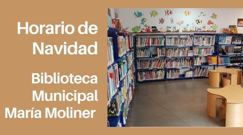 Horario de la biblioteca municipal en Navidad
