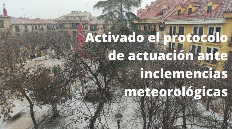 Activado el protocolo de actuación ante inclemencias meteorológicas
