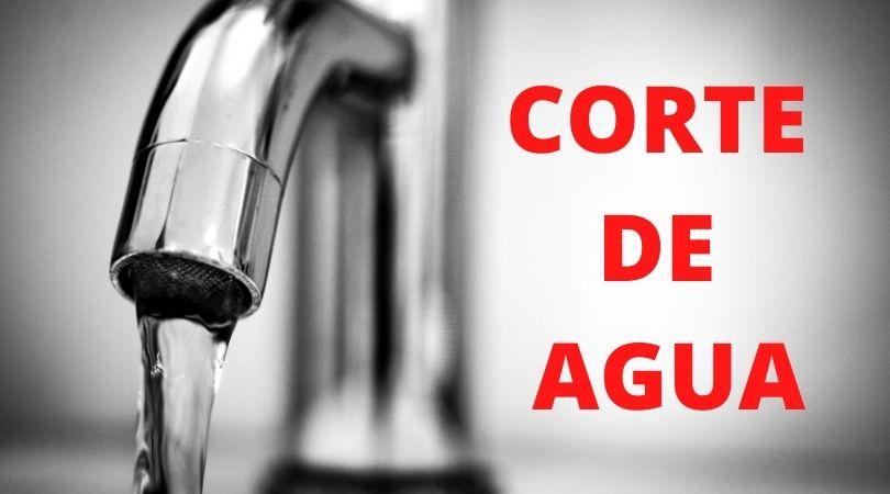 Corte de agua el día 6 de octubre