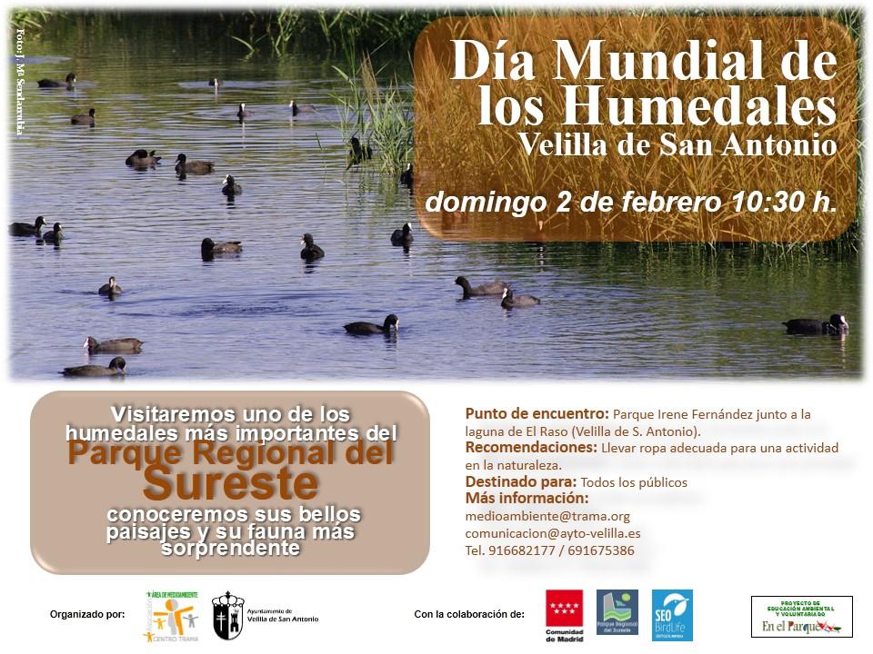 El 2 de febrero celebraremos el Día Mundial de los Humedales con una visita guiada por las lagunas de Velilla