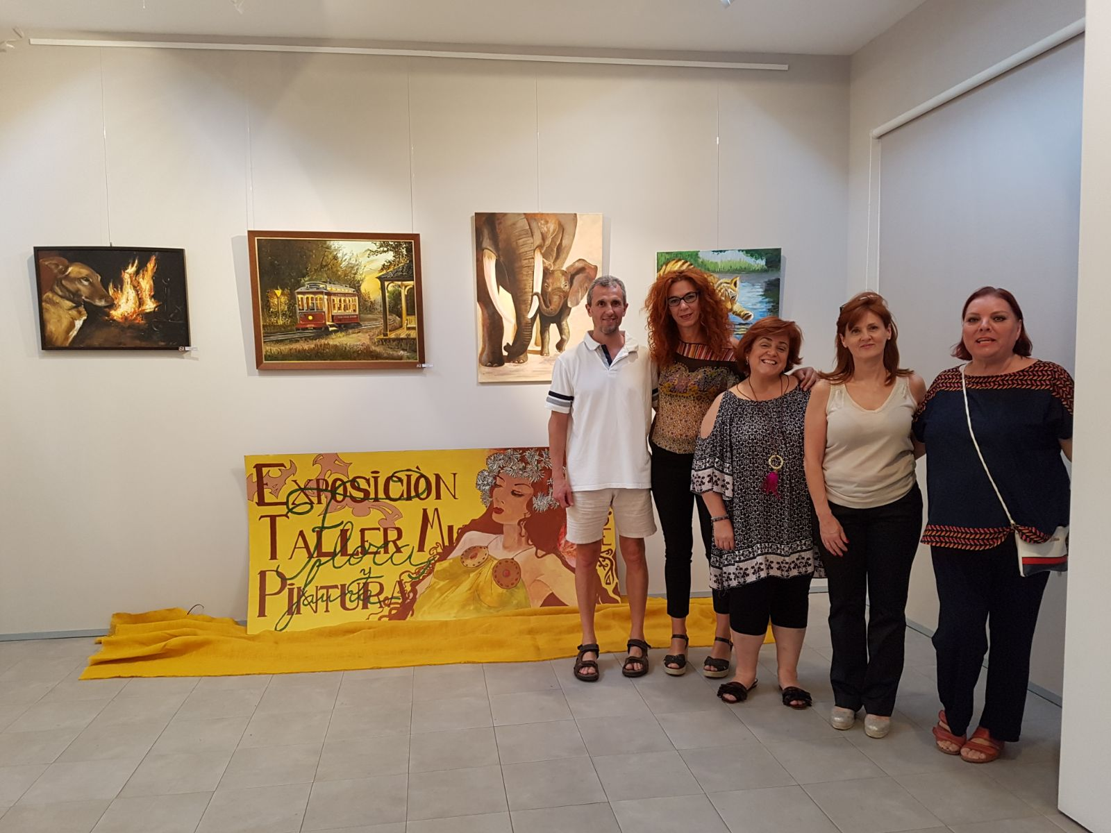 Inauguración de la exposición del Taller de Pintura Municipal