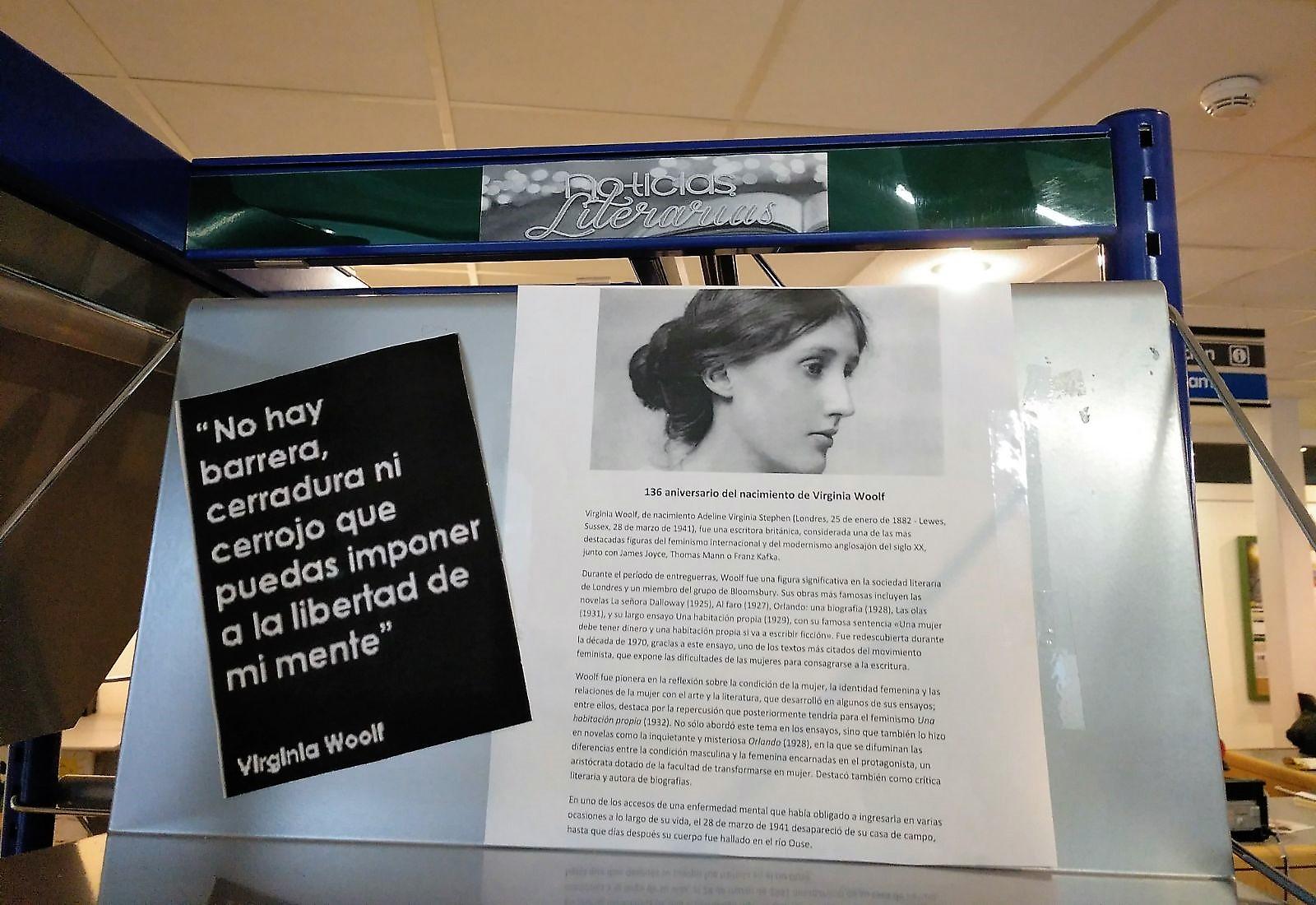 Virginia Woolf en la biblioteca de Velilla