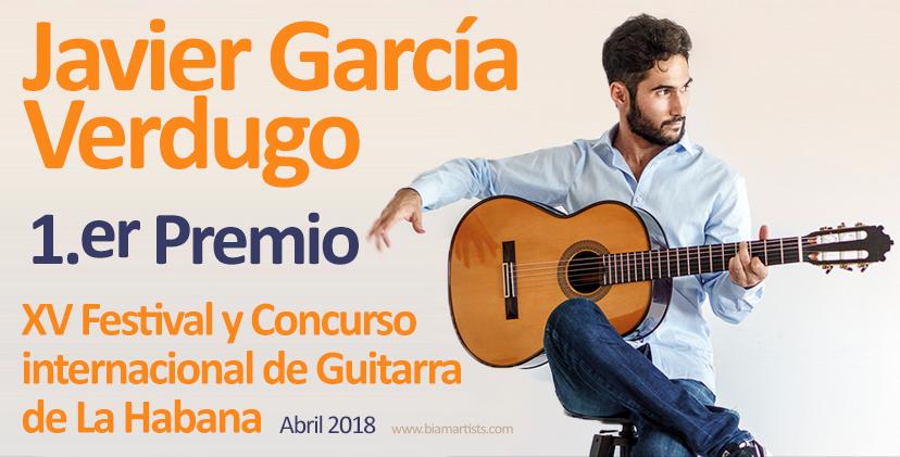 Javier García Verdugo, guitarrista velillero, ganador del XV Concurso Internacional de Guitarra de La Habana