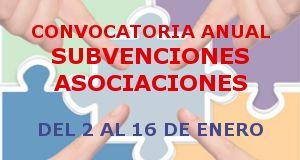 Convocatoria anual subvenciones a las asociaciones