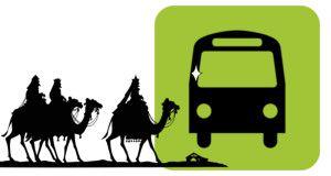 Modificación del itinerario de los autobuses y suspensión provisional de paradas con motivo de la cabalgata de SSMM los Reyes Magos