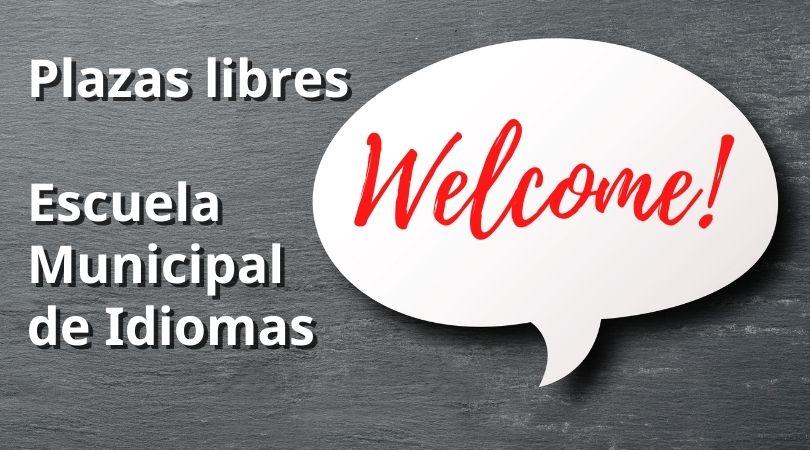 Plazas libres en la Escuela Municipal de Idiomas en los grupos de adultos