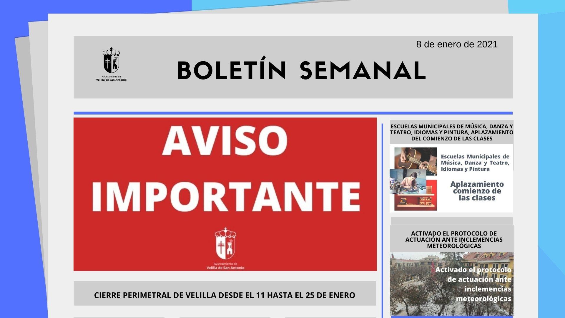 Boletín Semanal 1/2021