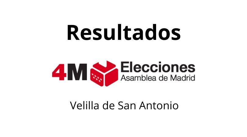 Resultados elecciones 4 de mayo en Velilla de San Antonio