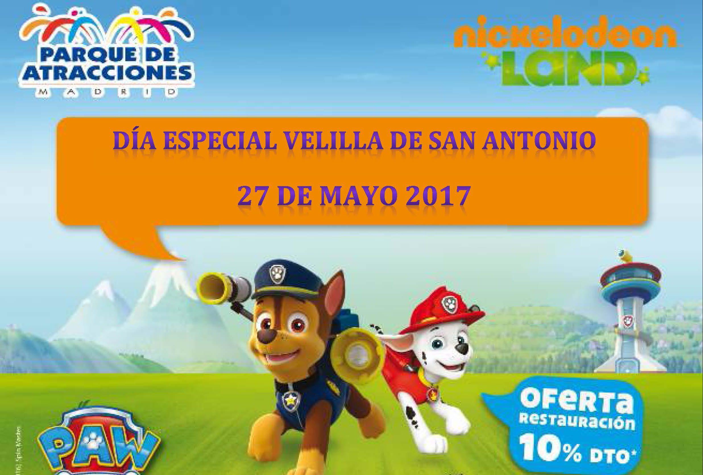 27 de mayo, Día de Velilla de San Antonio en el Parque de Atracciones