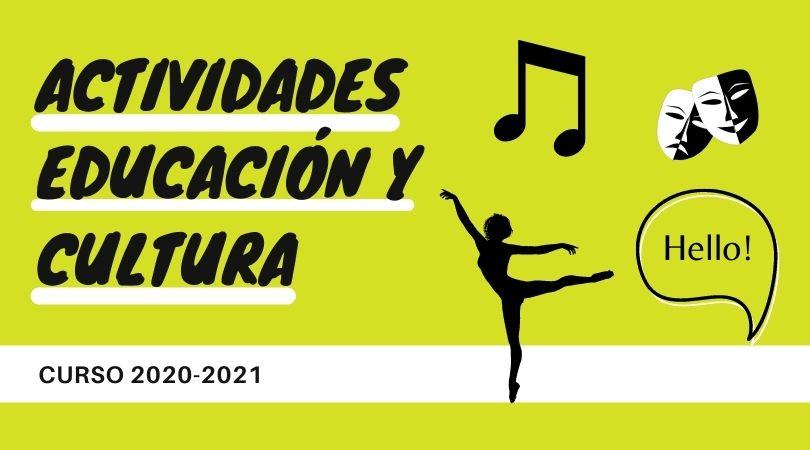 Se abre el plazo de inscripción de las actividades de educación y cultura curso 2020-2021