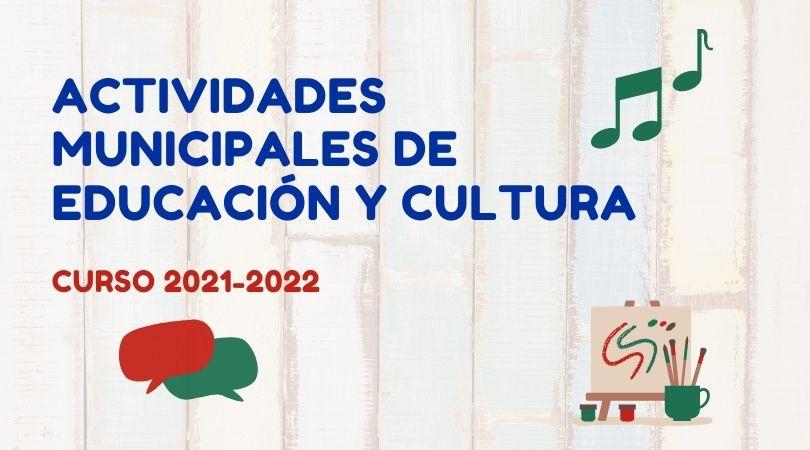 Inscripciones en las actividades municipales de educación y cultura curso 2021-2022