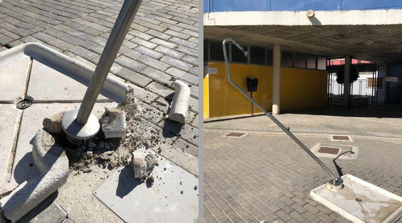 Actos vandálicos en la piscina municipal