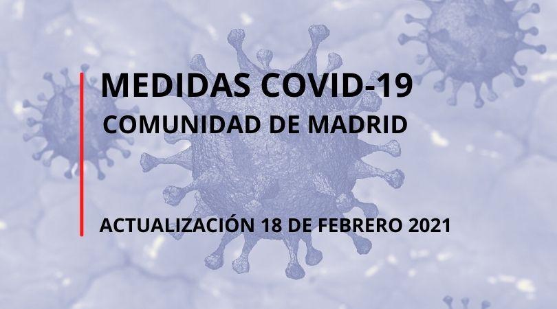 Actualización medidas COVID-19 de la Comunidad de Madrid