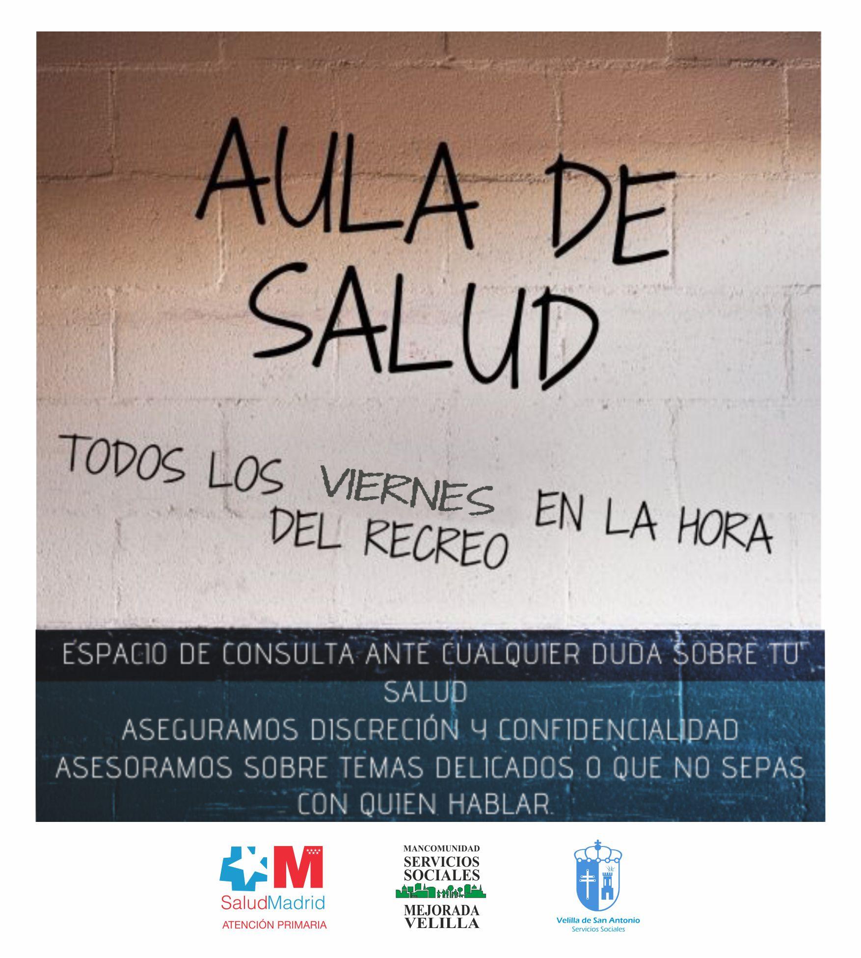 """El nuevo proyecto """"Aula de Salud"""" llega al IES Ana María Matute para atender consultas personales de los jóvenes"""
