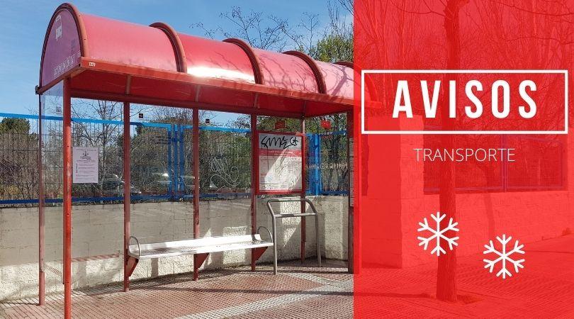 Actualización información servicios autobuses 12 de enero