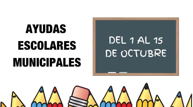 Ayudas Escolares Municipales, presentación de solicitudes del 1 al 15 de octubre