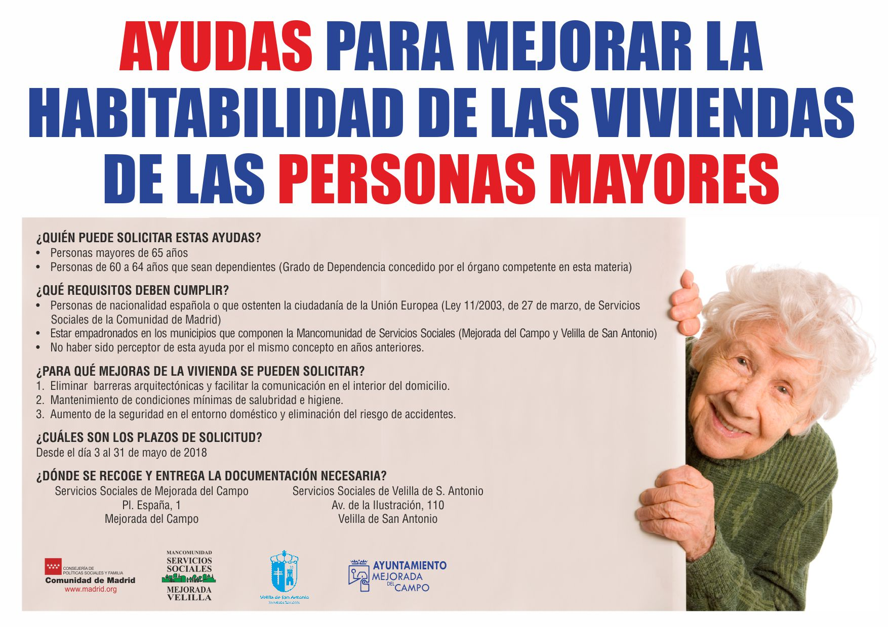 Ayudas para mejorar la habitabilidad de las viviendas de las personas mayores