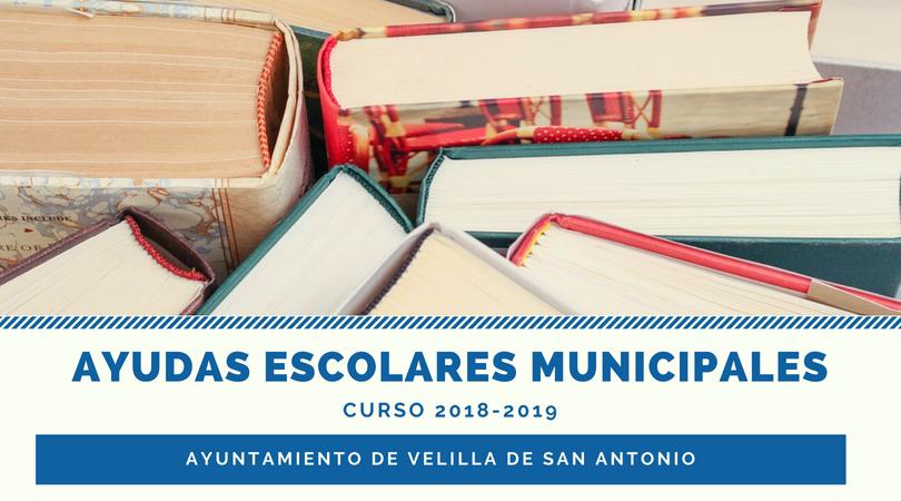 Del 6 al 28 de septiembre, plazo de presentación de solicitudes de las ayudas escolares municipales, curso 2018-2019