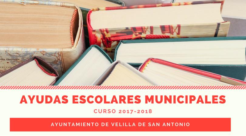 Publicado el listado de beneficiarios de las ayudas escolares municipales para el curso 2017-2018