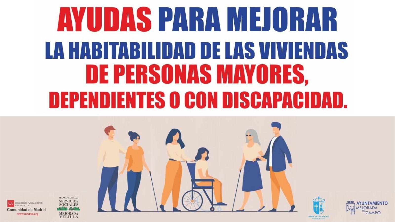 Ayudas para mejorar la habitabilidad de las viviendas de personas mayores, dependientes o con discapacidad