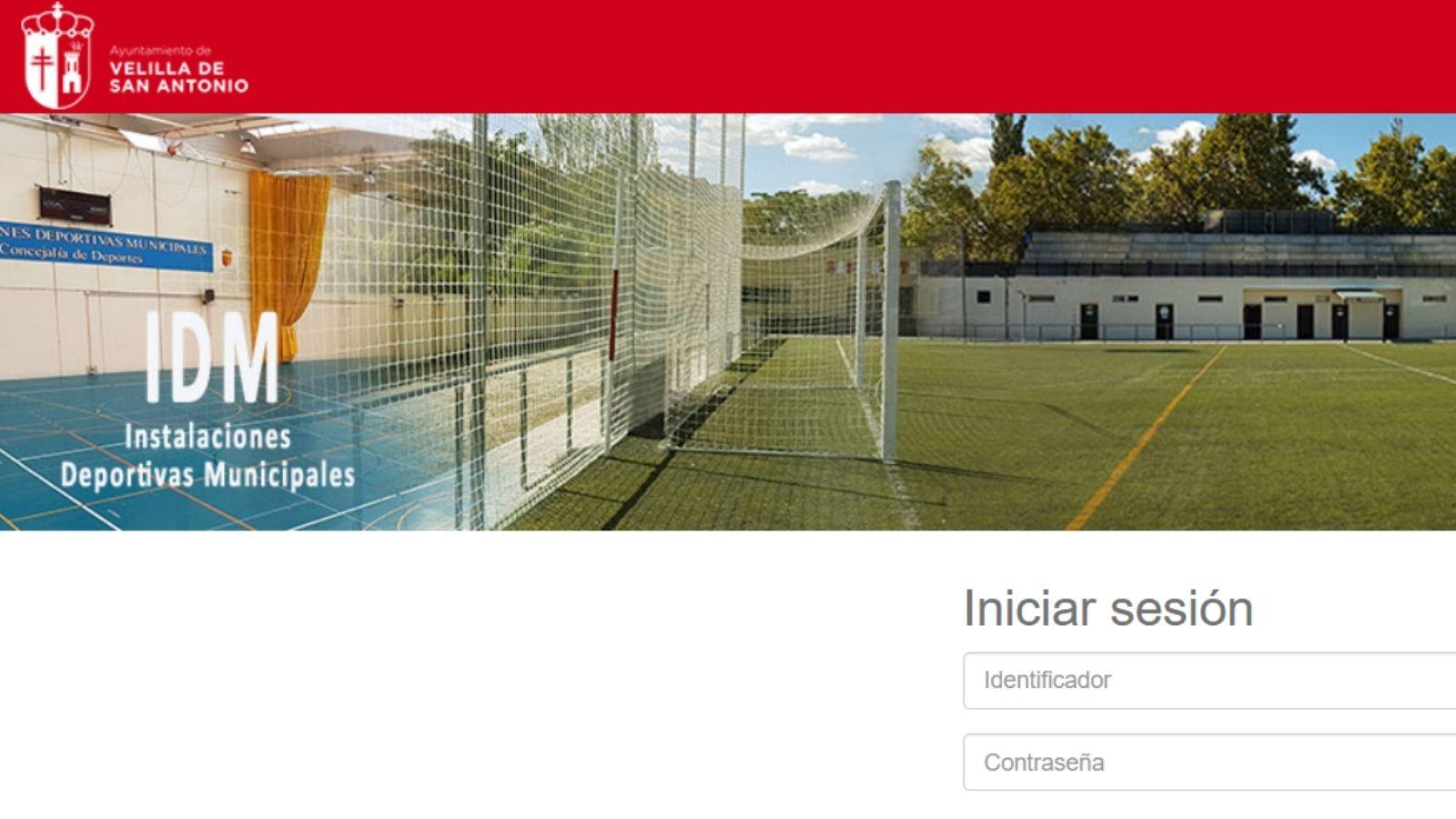 Plataforma online del área de Deportes