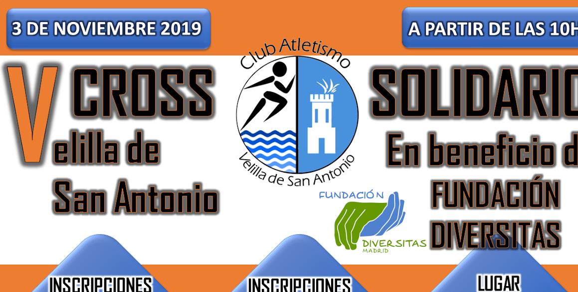 El próximo 3 de noviembre se celebrará el V Cross Solidario Velilla de San Antonio