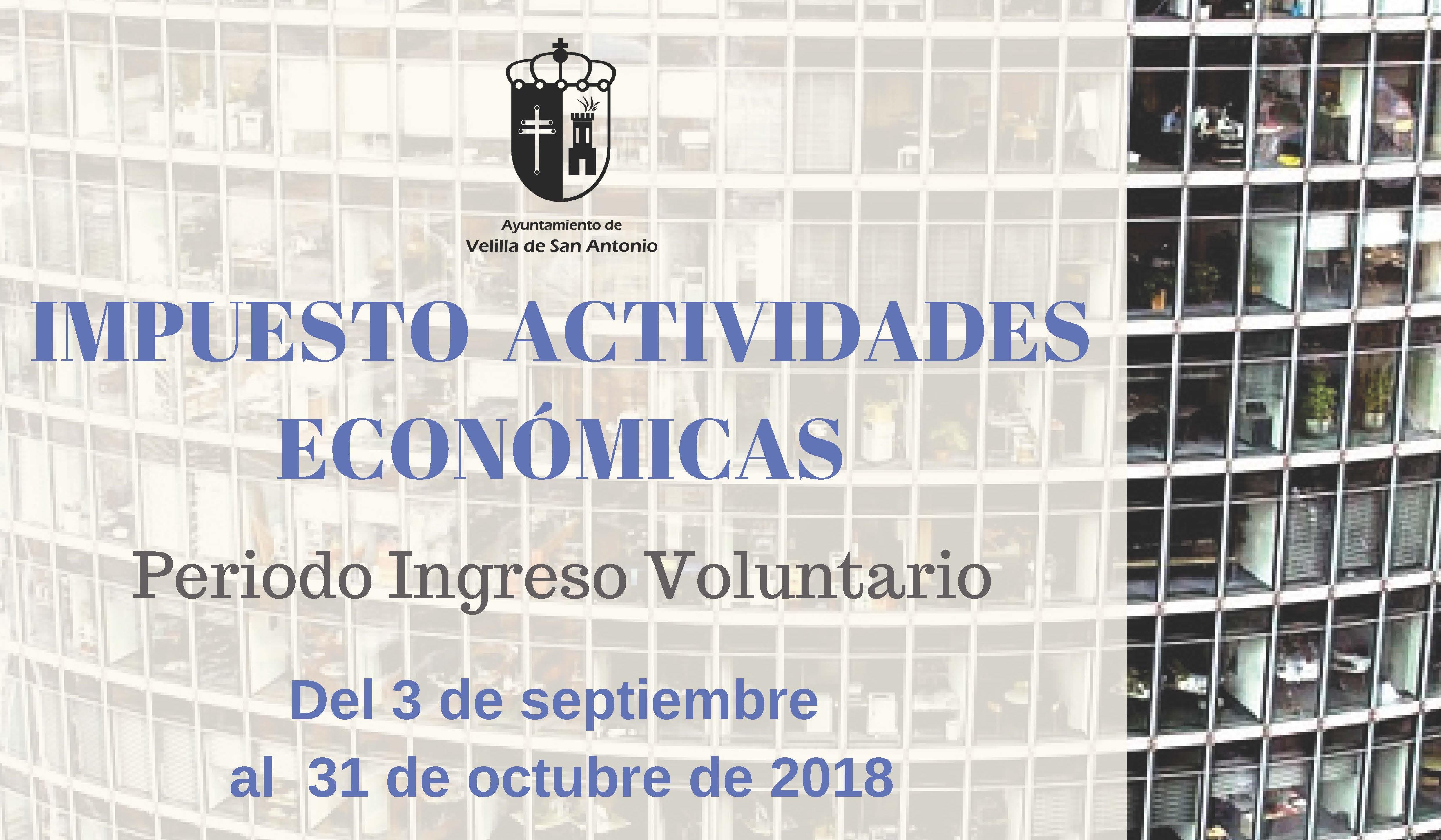 Impuesto de actividades económicas ejercicio 2018