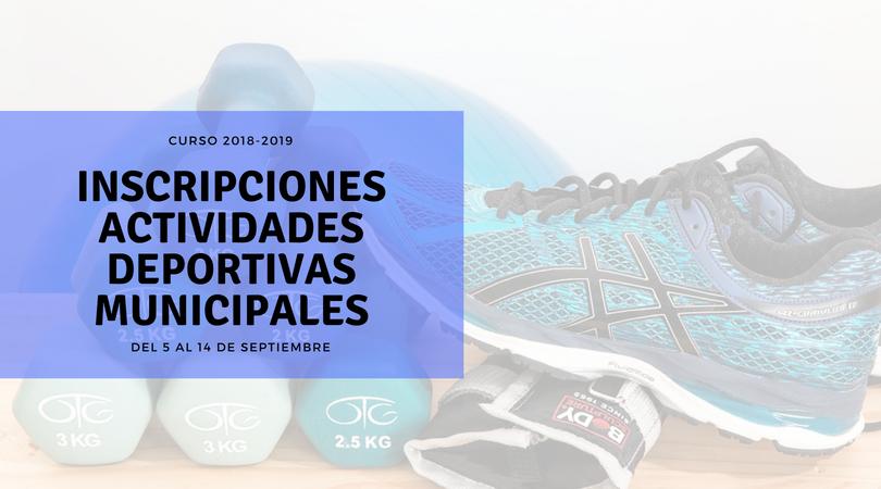El 5 de septiembre comienza el plazo de inscripción en las actividades deportivas municipales