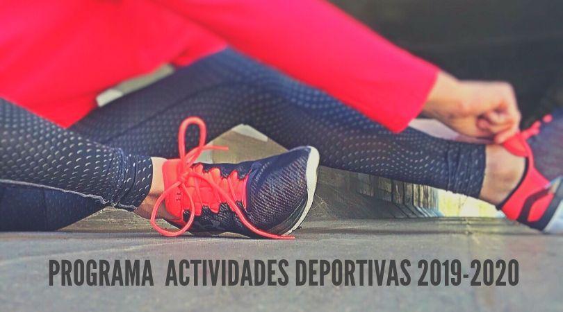 Programa de actividades deportivas 2019-2020