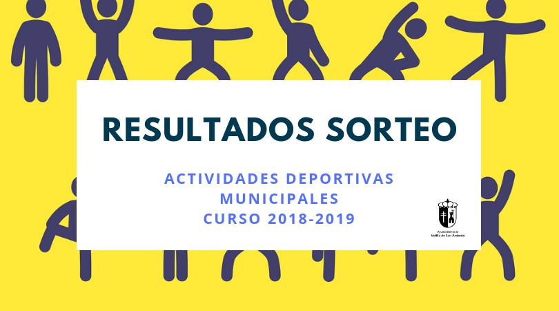 Resultados del sorteo de plazas actividades deportivas 2018-2019