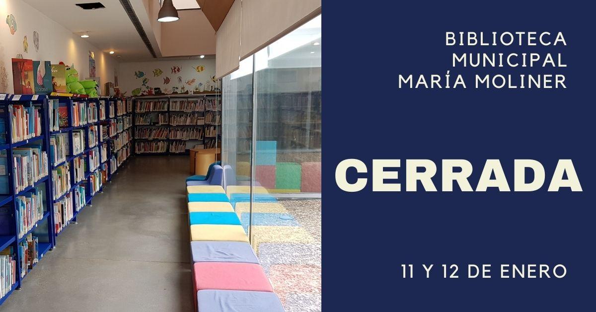 Biblioteca cerrada los días 11 y 12 de enero